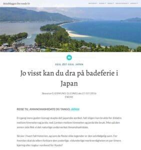 blogginnlegg om badeferie i Japan