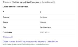 Liste over byer som heter San Francisco